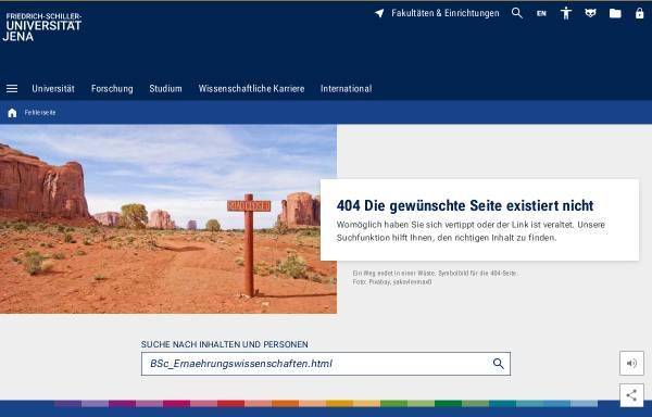 Vorschau von www.uni-jena.de, Bachelor Ernährungswissenschaft an der Universität Jena