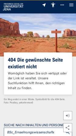 Vorschau der mobilen Webseite www.uni-jena.de, Bachelor Ernährungswissenschaft an der Universität Jena