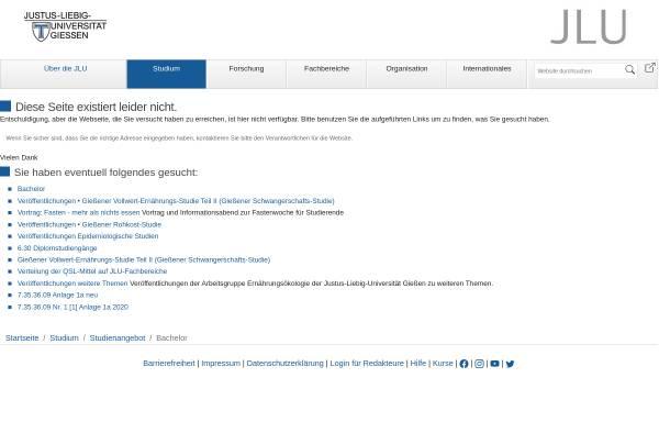 Vorschau von www.uni-giessen.de, Bachelor Ernährungswissenschaften an der Justus-Liebig-Universität Gießen