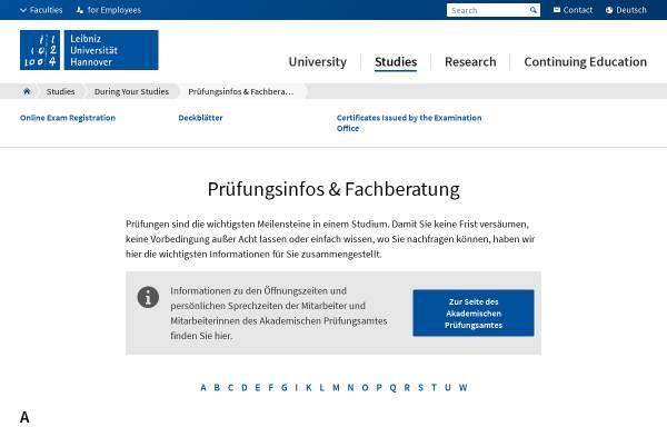 Vorschau von www.uni-hannover.de, Bachelor of Science Lehramt an berufsbildenden Schulen an der Universität Hannover