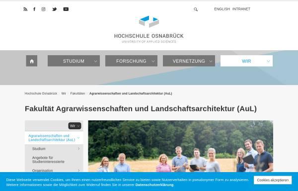 Vorschau von www.al.fh-osnabrueck.de, Bachelor Ökotrophologie an der Fachhochschule Osnabrück