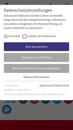 Vorschau der mobilen Webseite www.hs-anhalt.de, Bachelor Ökotrophologie an der Hochschule Anhalt (FH)