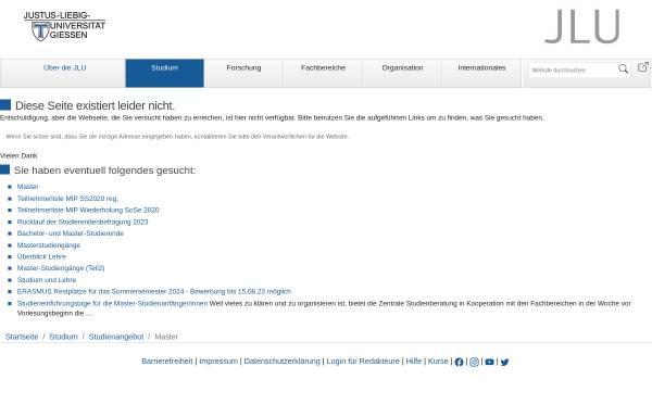 Vorschau von www.uni-giessen.de, Master Ernährungsökonomie an der Justus-Liebig-Universität Gießen
