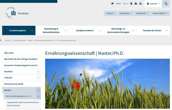 Vorschau von www.uni-potsdam.de, Master Ernährungswissenschaft an der Universität Potsdam