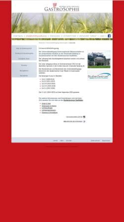 Vorschau der mobilen Webseite www.gastrosophie.at, Universitätslehrgang für gastrosophische Wissenschaften an der Paris-Lodron-Universität Salzburg