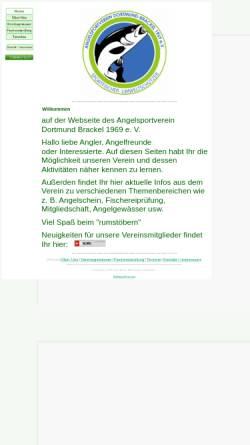 Vorschau der mobilen Webseite www.asv-1969.de, Angelsportverein Dortmund-Brackel 1969 e.V.