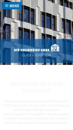 Vorschau der mobilen Webseite www.hfb-online.de, HFB Engineering GmbH
