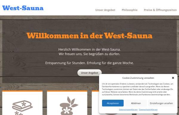 Vorschau von www.west-sauna.de, West-Sauna