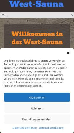 Vorschau der mobilen Webseite www.west-sauna.de, West-Sauna