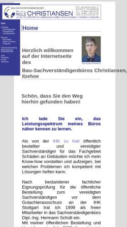 Vorschau der mobilen Webseite www.sv-christiansen.de, Christiansen, Niels