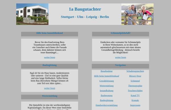 Vorschau von www.1a-baugutachter.de, Kämmner, Frank