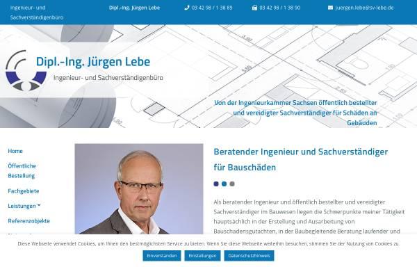 Vorschau von www.sv-lebe.de, Lebe, Jürgen