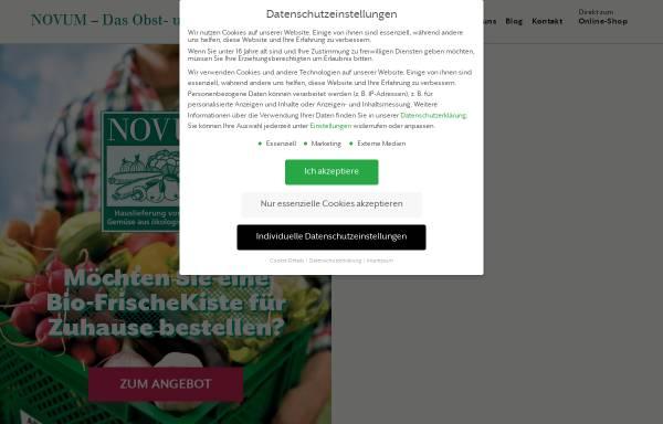 Vorschau von novum-gemueseabo.de, Novum das Gemüseabo