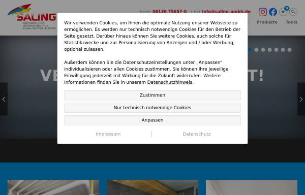 Vorschau von www.saling-gmbh.de, Saling GmbH