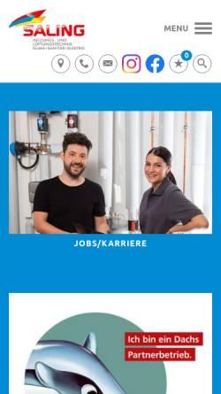 Vorschau der mobilen Webseite www.saling-gmbh.de, Saling GmbH