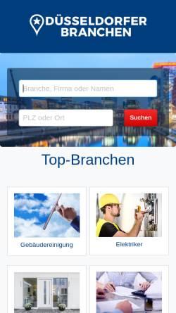 Vorschau der mobilen Webseite www.branchen-duesseldorf.de, Düsseldorfer Branchen