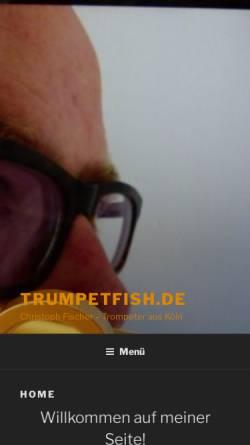 Vorschau der mobilen Webseite www.trumpetfish.de, Fischer, Christoph
