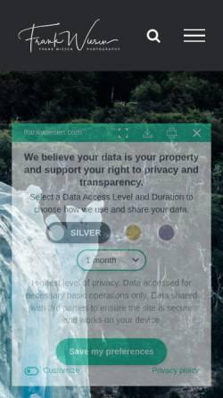 Vorschau der mobilen Webseite www.frankwiesen.com, Wiesen, Frank