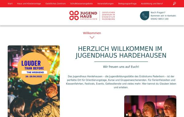 Vorschau von www.go-hdh.de, Jugendhaus Hardehausen - Kardinal Degenhardt-Haus