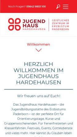 Vorschau der mobilen Webseite www.go-hdh.de, Jugendhaus Hardehausen - Kardinal Degenhardt-Haus