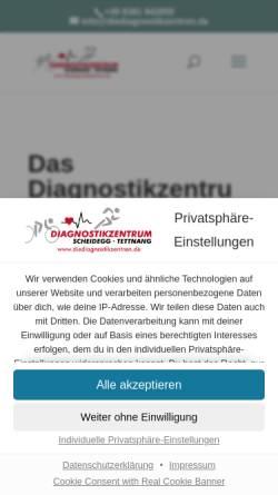 Vorschau der mobilen Webseite diediagnostikzentren.de, Diagnostikzentrum Scheidegg