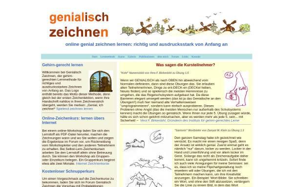 Vorschau von www.genial-zeichnen-lernen.de, genial zeichnen lernen - richtig und ausdrucksstark von Anfang an