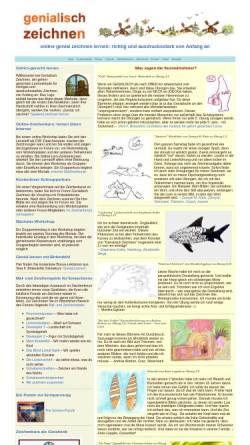 Vorschau der mobilen Webseite www.genial-zeichnen-lernen.de, genial zeichnen lernen - richtig und ausdrucksstark von Anfang an