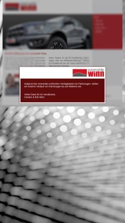 Vorschau der mobilen Webseite www.automobile-winn.de, Automobile Winn