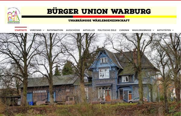 Vorschau von www.buergerunion-warburg.de, Bürgerunion Warburg