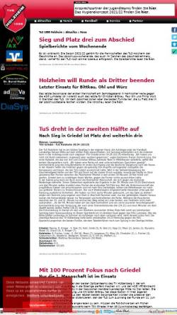 Vorschau der mobilen Webseite www.tus-holzheim.de, Turn & Sportverein 1888 Holzheim