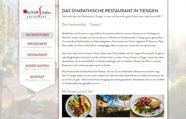 Vorschau von www.heckerstueble.de, Trattoria Heckerstüble