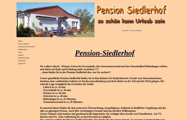 Vorschau von pension-siedlerhof.de, Pension Siedlerhof