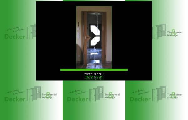 Vorschau von decker-tueren.de, Decker Türenhandel & Montage
