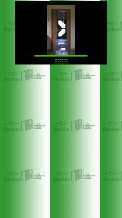 Vorschau der mobilen Webseite decker-tueren.de, Decker Türenhandel & Montage