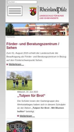 Vorschau der mobilen Webseite www.blindenschule-neuwied.de, Landesschule für Blinde und Sehbehinderte Neuwied