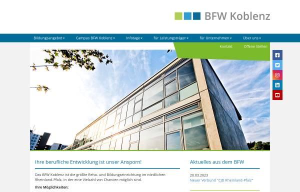 Vorschau von www.bfw-koblenz.de, CJD Berufsförderungswerk Koblenz Gemeinnützige GmbH