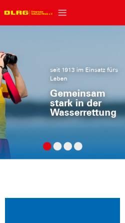 Vorschau der mobilen Webseite vallendar.dlrg.de, DLRG Vallendar e.V.