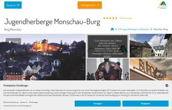 Vorschau von www.burg-monschau.jugendherberge.de, Jugendherberge Burg Monschau