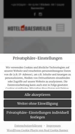Vorschau der mobilen Webseite www.hotel-in-baesweiler.de, HIB Hotel in Baesweiler GmbH