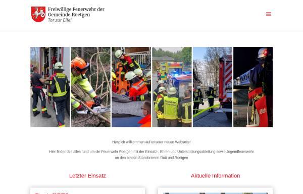 Vorschau von www.feuerwehr-roetgen.de, Freiwillige Feuerwehr Roetgen / Rott
