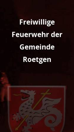 Vorschau der mobilen Webseite www.feuerwehr-roetgen.de, Freiwillige Feuerwehr Roetgen / Rott