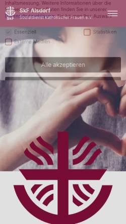 Vorschau der mobilen Webseite www.skf-alsdorf.de, Sozialdienst katholischer Frauen e.V. (SkF) Alsdorf