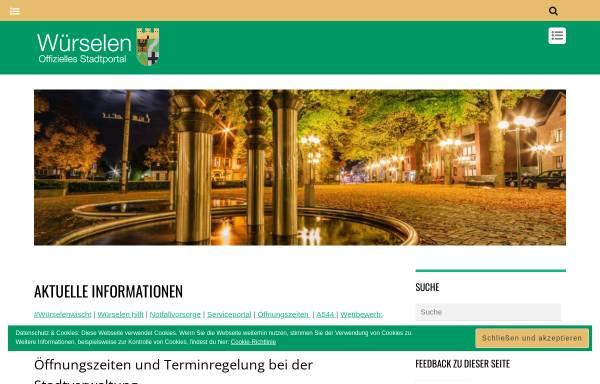 Vorschau von www.wuerselen.de, Würselen