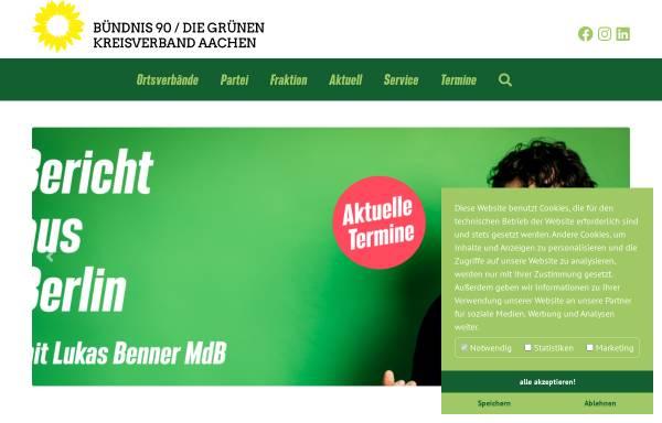 Vorschau von www.gruene-region-aachen.de, Bündnis 90/Die Grünen, Kreisverband Städteregion Aachen