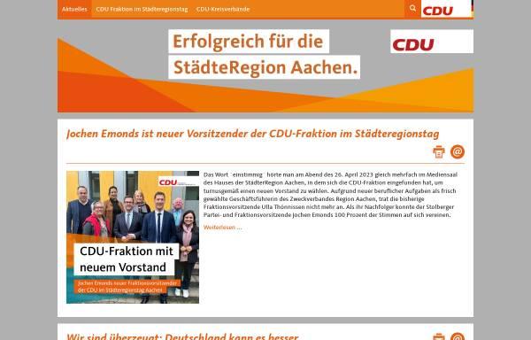 Vorschau von www.cdu-staedteregion-aachen.de, CDU, StädteRegion Aachen