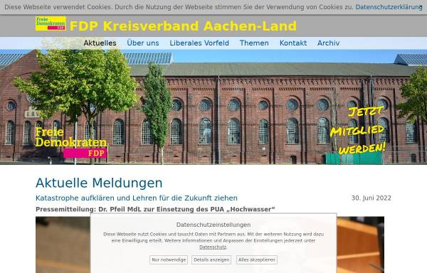 Vorschau von www.fdp-kreisaachen.de, FDP Kreisverband Aachen