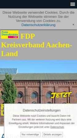 Vorschau der mobilen Webseite www.fdp-kreisaachen.de, FDP Kreisverband Aachen