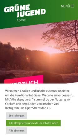 Vorschau der mobilen Webseite www.gjac.de, Grüne Jugend in Aachen und der StädteRegion