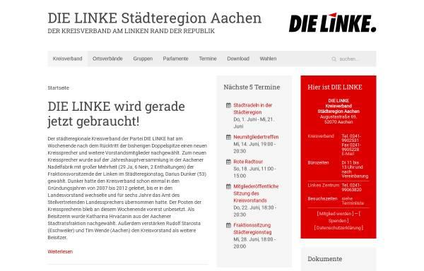 Vorschau von dielinke-aachen.de, Die Linke. Kreisverband Städteregion Aachen
