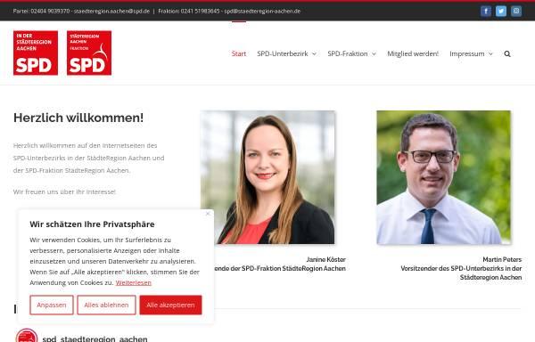 Vorschau von www.spd-staedteregion-aachen.de, SPD in der Städteregion Aachen